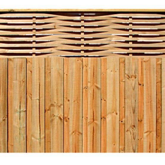 Woven Lattice Fence Extension